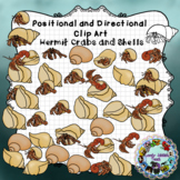 Positional and Directional Words Clip Art: Hermit Crab and Shells