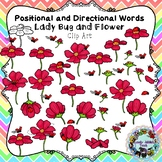 Positional and Directional Words Clip Art: Ladybug and Flower