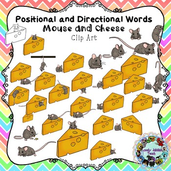 Positional and Directional Words Clip Art: Mouse and Cheese