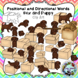 Positional and Directional Words Clip Art: Puppy and Box