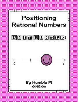 Positioning Rational Numbers Bundle-6.NS.6c