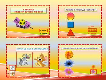 Positional Words Interactive PowerPoint end of the year distance learning
