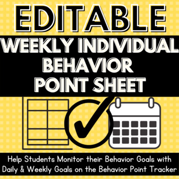 FREE Positive Action Plan Weekly Behavior Point Sheet