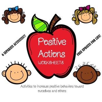 Positive Actions Packet | FREEBIE | Positive Behavior Activities|