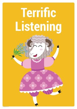 Positive Actions Poster and Tickets – Listening