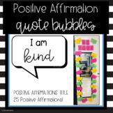 Positive Affirmation Bulletin Board - Including Just Print Option