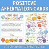Positive Affirmation Cards | Classroom Behavior Cards |