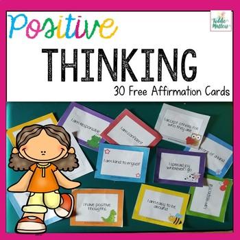Positive Affirmation Cards for Children Freebie!