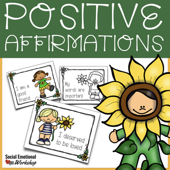 Positive Affirmation Cards for Positive Thinking and Healthy Self-Esteem