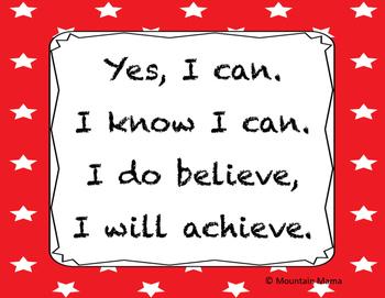 Positive Affirmation Cheer or Poem