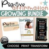 Positive Affirmation Classroom Bundle