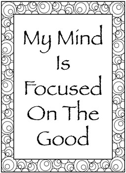 Positive Affirmations To Color Worksheets & Teaching Resources | TpT