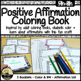 Positive Affirmation Activity Coloring Booklet / Affirmation Cards