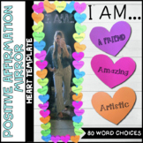 Positive Affirmation Growth Mindset Mirror Template - Hearts