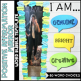 Positive Affirmation Growth Mindset Mirror Template - Word Bubbles