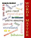 Positive Affirmation Poster 11x14 jpg file. (original work)