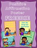 Positive Affirmation Poster FREEBIE
