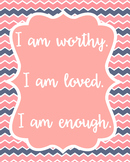 Positive Affirmation Poster Quote Classroom Decor Teachers
