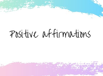 Positive Affirmation Posters