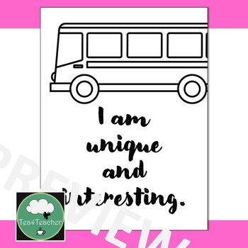 Positive Affirmation Posters for Elementary Primary Growth Mindset Affirmations