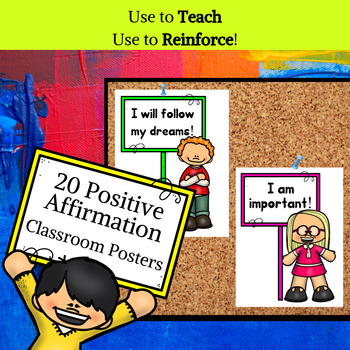 Positive Affirmation Posters for Growth Mindset