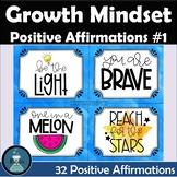 Positive Affirmation and Growth Mindset Cards Set #1