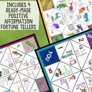 4 Positive Affirmation & Self-Esteem Fortune Tellers/Cootie Catchers