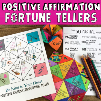 4 Positive Affirmation & Self-Esteem Fortune Tellers/Cooti