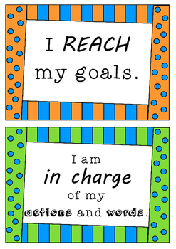 Positive Affirmations - 140 POSTERS - statements for stude