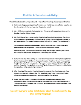 Positive Affirmations Activity
