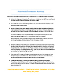 Positive Affirmations Activity