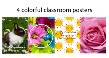 Positive Affirmations/ Growth Mindset Classroom Posters Set of 4