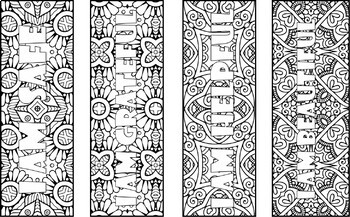 50 Positive Affirmations Coloring Bookmarks - Color your Own Bookmarks