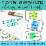 Positive Affirmations: Coloring Journal and Affirmation Cards