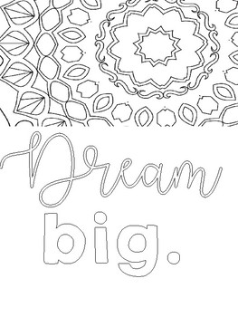 Positive Affirmations: Coloring Journal for Teachers