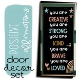 Positive Affirmation Door Decor  ll  Boho Rainbow Door Dec
