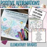 Positive Affirmation Fortune Teller Craft | Back to School Games
