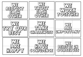 Positive Affirmations Coloring Pages Growth Mindset Activity Mental Health
