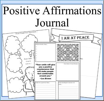 Positive Affirmations Journal- Self Esteem Journal