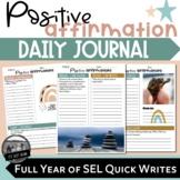 Positive Affirmation Journal ll Boho Rainbow Themed Daily