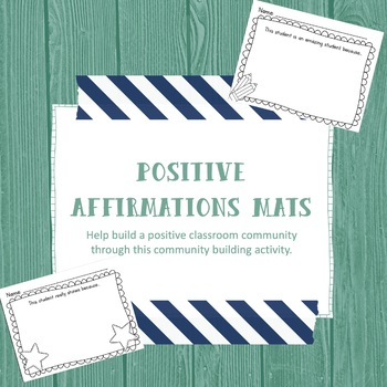 Positive Affirmations Mats | Great Way to Build Classroom Community