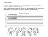 Positive Affirmations Self Care Worksheet