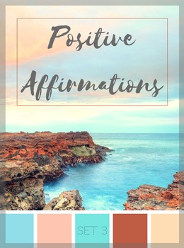 Positive Affirmations - Set 3 (Character Education)