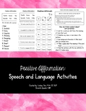 Positive Affirmations: Speech and Language Activities