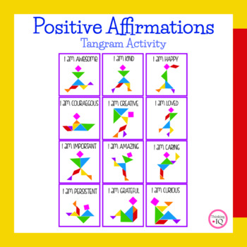 Positive Affirmations Tangram Counseling Activity