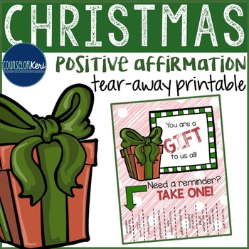 Positive Affirmations Tear Away Printable - Christmas Wint