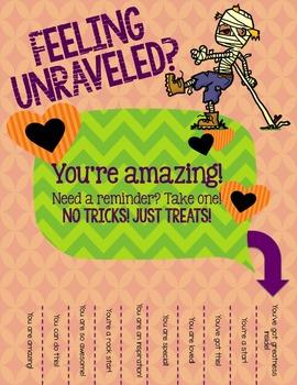 Halloween Affirmation Encouragement Tear-Away Printable - School Counseling