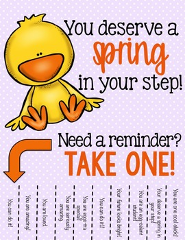 picture about Printable Positive Affirmations titled Certain Affirmations Tear Absent Printable - Spring/Easter - Higher education Counseling