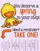 Positive Affirmations Tear Away Printable - Spring/Easter
