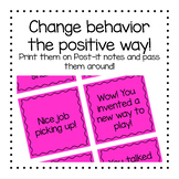 Positive Affirmations and Specific Praise (print on Post-it notes)-FREE